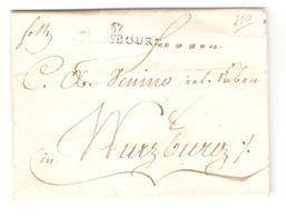 France Précurseur LAC Strasbourg 1799 V.Wurzburg Taxé 8 2135 - Marcophilie (Lettres)