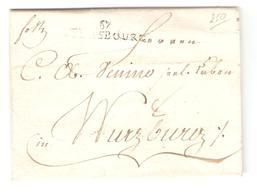 France Précurseur LAC Strasbourg 1799 V.Wurzburg Taxé 8 2135 - Marcofilie (Brieven)