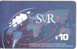ARGENTINA - Del SUR Prepaid Card $10, Mint - Argentina