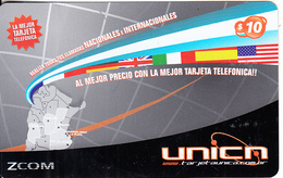 ARGENTINA - Flags & Map Of Argentina, UNICA Prepaid Card $10, 06/08, Used - Argentina