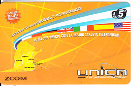 ARGENTINA - Flags & Map Of Argentina, UNICA Prepaid Card $5, 11/07, Used - Argentina