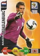CARTE PANINI ADRENALYN COUPE DU MONDE FIFA AFRIQUE DU SUD 2010 PAYS BAS MAARTEN STEKELENBURG - Trading Cards