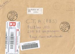 Centrafrique RCA CAR 2006 Bangui Post Office Meter Neopost NE 94656 EMA Registered Cover Via France - Centraal-Afrikaanse Republiek
