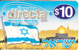 ARGENTINA - Flags Of Israel, Azultel Prepaid Card $10, 11/07, Used - Argentina