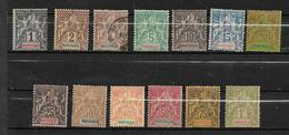 France Colonie  Timbres De Martinique  De 1904  N°31 A 43 Neuf *( N°33 Obli) Cote 330€ - Martinique (1886-1947)