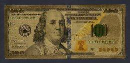 Banconota Laminata Oro 100 Dollari Serie 2009-A - Verenigde Staten