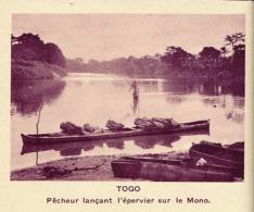 Chromo, Image, Vignette : Togo, Pêcheur Lançant L'épervier Sur Le Mono (6 Cm Sur 7 Cm) - Unclassified