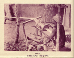 Chromo, Image, Vignette : Togo, Tisserand Indigène (6 Cm Sur 7 Cm) - Unclassified