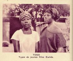 Chromo, Image, Vignette : Togo, Types De Jeunes Filles Ewhés (6 Cm Sur 7 Cm) - Unclassified