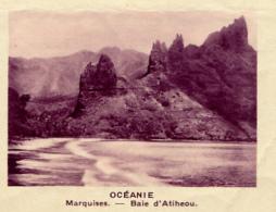 Chromo, Image, Vignette : Océanie, Marquises, Baie D'Atiheou (6 Cm Sur 7 Cm) - Unclassified
