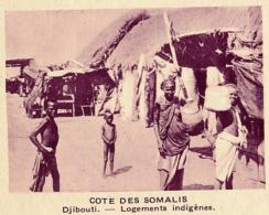 Chromo, Image, Vignette : Cote Des Somalis, Djibouti, Logements Indigènes (6 Cm Sur 7 Cm) - Unclassified
