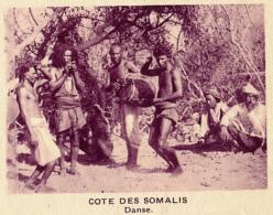 Chromo, Image, Vignette : Cote Des Somalis, Danse (6 Cm Sur 7 Cm) - Unclassified