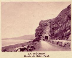 Chromo, Image, Vignette : La Réunion, Route De Saint-Paul (6 Cm Sur 7 Cm) - Unclassified