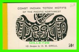INDIENS - COAST INDIAN TOTEM MOTIFS OF THE PACIFIC NORTHWEST - 10 DESIGNS BY C. B. GREUL - - Indiens De L'Amerique Du Nord
