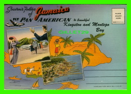 JAMAIQUE - SOUVENIR FOLDER OF JAMAICA - FLY PAN AMERICAN TO KINGSTON AND MONTEGO BAY - - Jamaïque