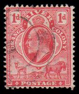Orange River Colony Scott # 62, 1p Carmine (1903) King Edward VII, Used - Unclassified