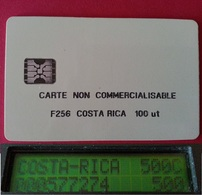 COSTA RICA - Test Schlumberger Chargé - F256 100 Units - Carte Non Commercialisable - SC5 Neuve Mint (CB1217) - Costa Rica