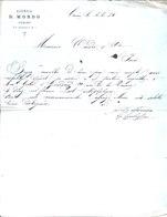 Agenzia D. Mondo.Turin. 1884. Destiné à Messieurs Candes & Cie, Paris - Factures & Documents Commerciaux