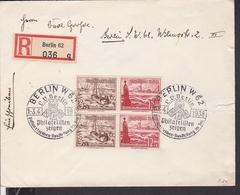 """Einschreibbrief Deutsches Reich Sonderstempel Berlin """" Postwertzeichenausstellung """" 1938 - Germany"""