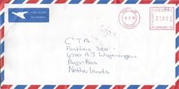 """Zimbabwe 2001 Causeway Meter Neopost """"Electronic"""" NE170 EMA Cover - Zimbabwe (1980-...)"""