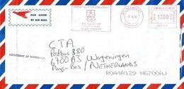 "Zimbabwe 2002 Mt Pleasant Meter Hasler ""Mailmaster"" HAS252 EMA University Cover - Zimbabwe (1980-...)"