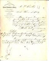 Andrea Dominguez De Varella. Perfumeria Higienica. Coruna. 1889 - Factures & Documents Commerciaux