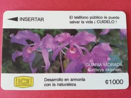 COSTA RICA - ICE GPT Cn: 3CORC Guaria Morada Cattleya Skinneri Fleur 1000 Used (CB1217) - Costa Rica