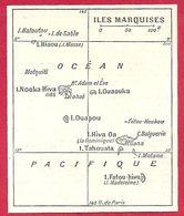 Carte Des îles Marquises, Larousse 1908 - Old Paper