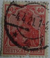 Sello Alemania. 40 Pfenning. Kaiser Guillermo II. II Reich. 1888-1918 - Alemania