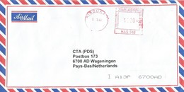"Zimbabwe 2007 Bindura Meter Hasler ""Mailmaster"" HAS948 EMA Inflation Cover - Zimbabwe (1980-...)"