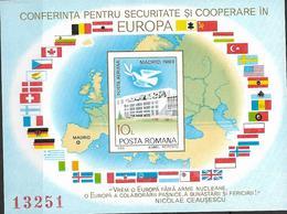 1983 Rumänien   Mi. Bl. 196 **MNH  Konferenz über Europäische Sicherheit Und Zusammenarbeit - Europese Gedachte