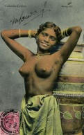 Ceylon, Beautiful Nude Rodiya Woman, Topless (1909) Postcard - Sri Lanka (Ceylon)