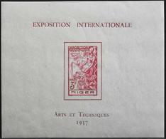 France (ex-colonies & Protectorats) > Niger 1937 Bloc & Feuillet N° 1 Neuf** - Arts Et Techniques - TBE - Niger (1921-1944)