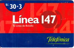PERU - Linea 147, Telefonica Prepaid Card S/.30+3, 04/99, Used - Peru