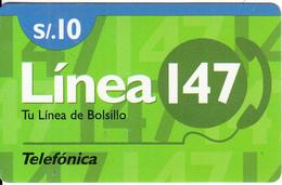 PERU - Linea 147, Telefonica Prepaid Card S/.10(plastic), 02/99, Used - Peru
