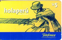 PERU - HolaPeru, Telefonica Prepaid Card S/.5, Used - Peru