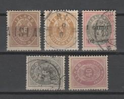 Island , 5 Klassische Marken , Katalogwert 190 Euro - 1873-1918 Dépendance Danoise