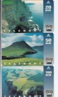 Faroe Islands, OD-001 - 003,  Set Of 3, Vágseiði, Viðareiði, Ambadalur, 2 Scans. - Faroe Islands