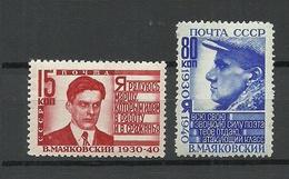 RUSSIA Soviet Union 1940 Michel 745 & 748 MNH - 1923-1991 USSR