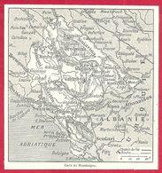 Carte Du Monténégro, Larousse 1908 - Old Paper
