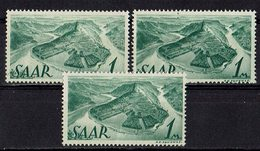 Saarland 1947 // Mi. 225 Z ** 3x (028..220) - 1947-56 Protectorate