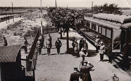 OFFICIERS ALLEMANDS En GARE De BLOTZHEIM - PREMIÉRE GUERRE MONDIALE ~ 1914 - 1916 - PHOTO 10 X 16 CM - RARE ! (aa055) - Frankreich
