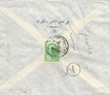 Iran 1942 (1321 Persia) Teheran To Yezd Censored Domestic Cover - Iran