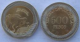 COLOMBIA 2012 500 PESOS BIMETALLICA FDC UNC FROG RANA - Colombia