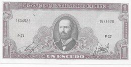 Chile P.136 1 Escudo 1970 Unc - Cile