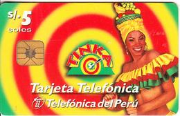 PERU - Tinka, Teleffonica Telecard, Tirage 25000, 07/97, Used - Peru