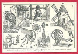 Moulins, Moulin à Eau, à Vent, Dit Aéromoteur, à Huile, Agricole à Main, à Pomme..., Larousse 1908 - Autres