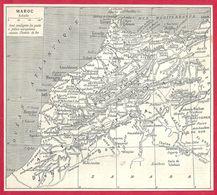 Carte Du Maroc, Larousse 1908 - Old Paper