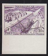 Madagascar (1956) Pangalanes Canal. Trial Color Proof. FIDES Issue. Scott No 294, Yvert No 329. - Madagascar (1960-...)