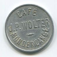 Luxembourg - Jeton De Café J.P. Wolter Mondercange - - Tokens & Medals